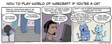 How to Play World of Warcraft if You're a Cat