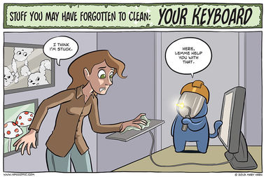 Stuff You May Have Forgotten to Clean: Your Keyboard