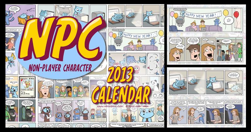 2013 NPC Comic Calendar