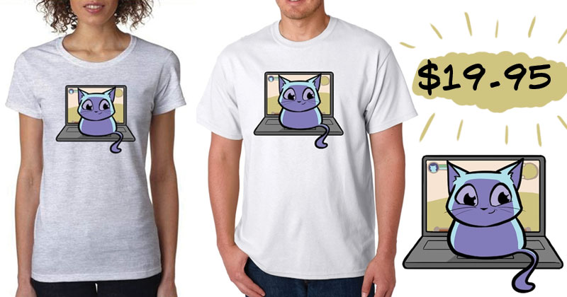 2013 NPC Comic Laptop Cat Shirt