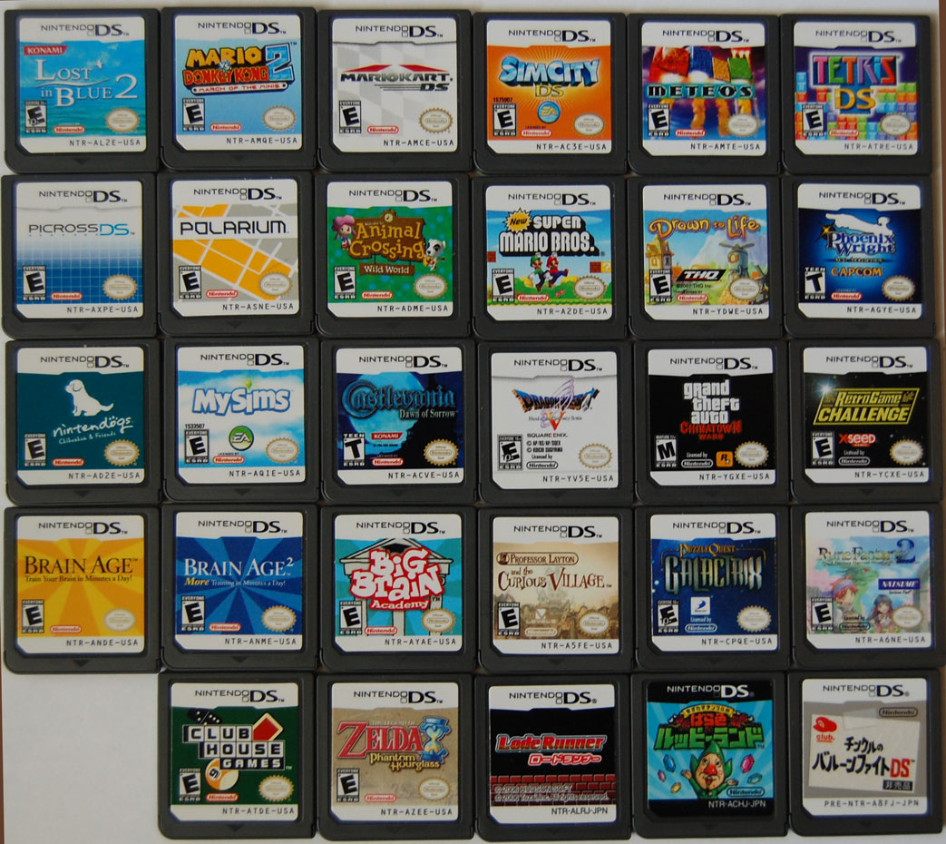 have a problem with buying too many DS games and then not playing