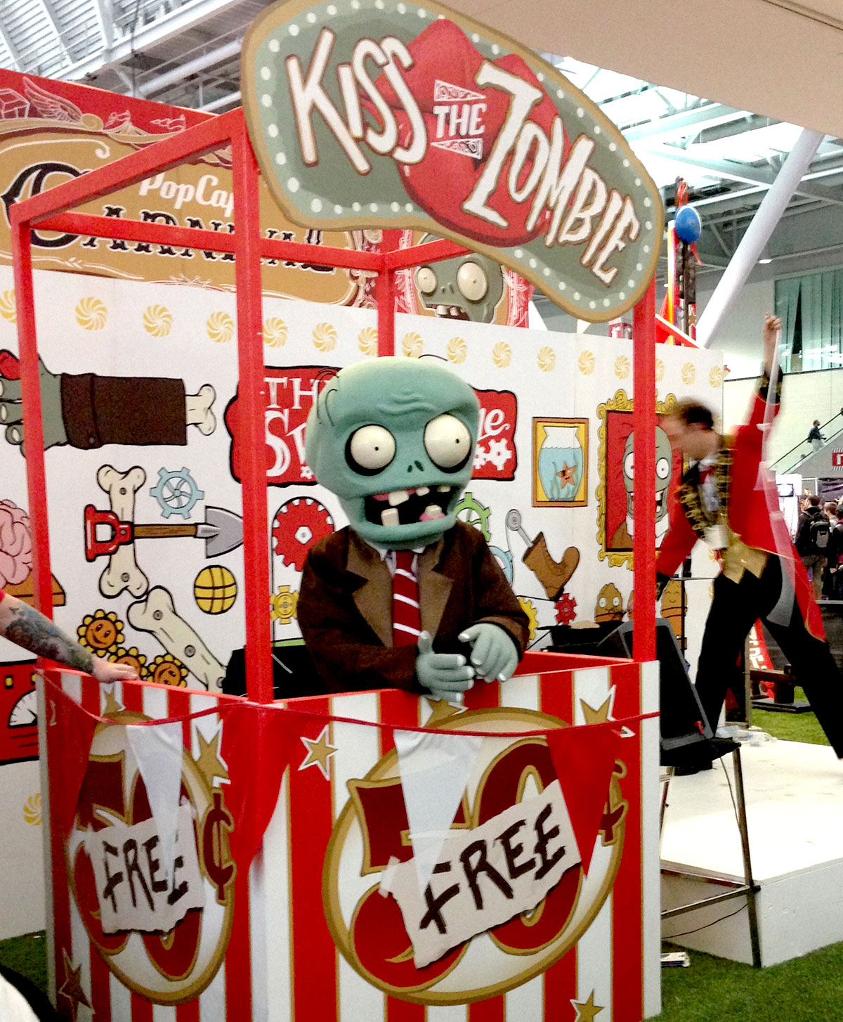 Popcap had a fun booth.