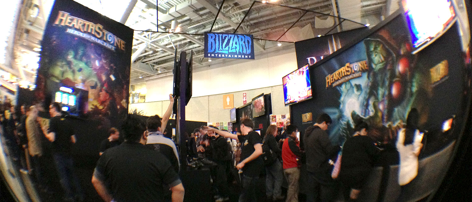 The PAX Blizzcon Booth. Hearthstone on this side and Diablo 2 on the PS3 on the other side.