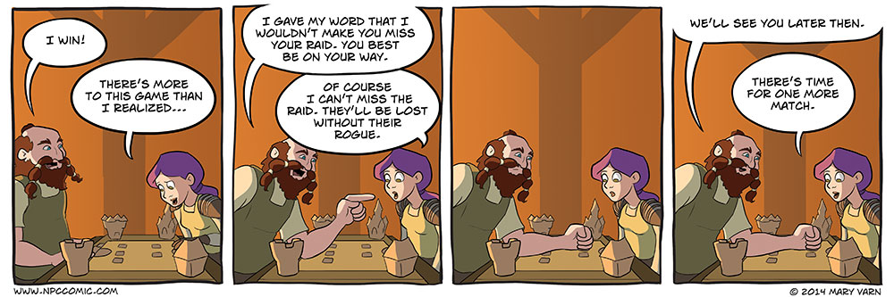 Lost without their rogue. Yep. Totally completely lost.