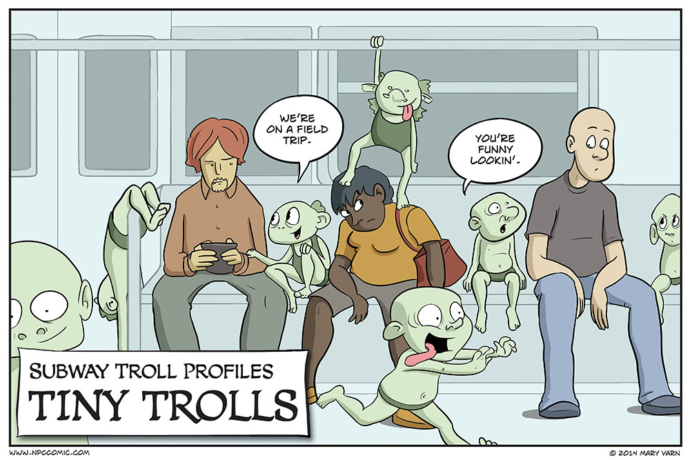 Ah, to be a tiny troll again.