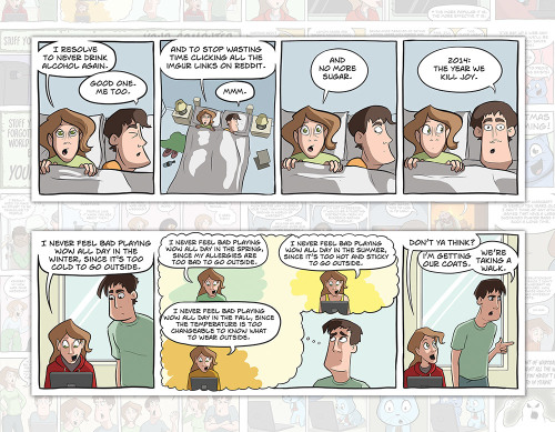 NPC Comic 2015 Calendar page