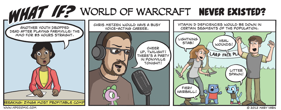 A comic about what would happen if World of Warcraft never existed