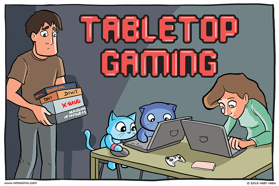 A comic about tabletop gaming.