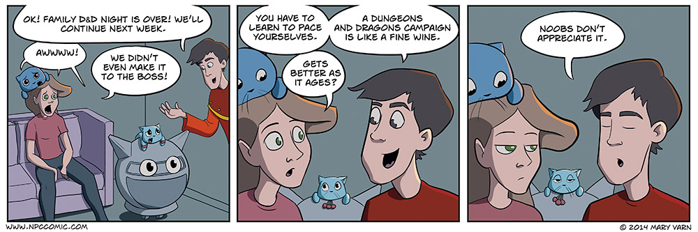 A comic about playing the tabletop game Dungeons and Dragons.