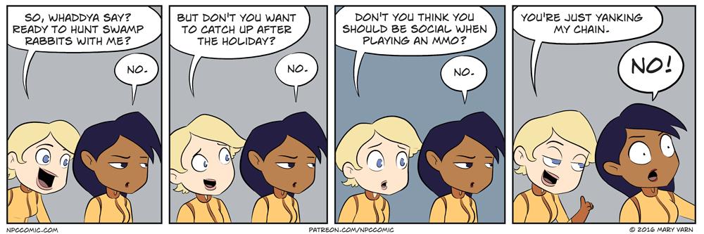 MMO Social - NPC Comic