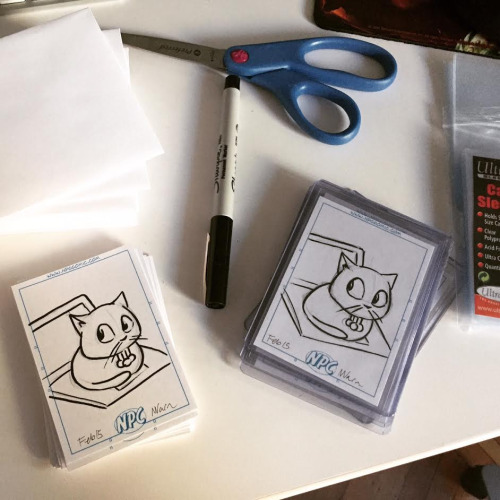 sketch cards from last year